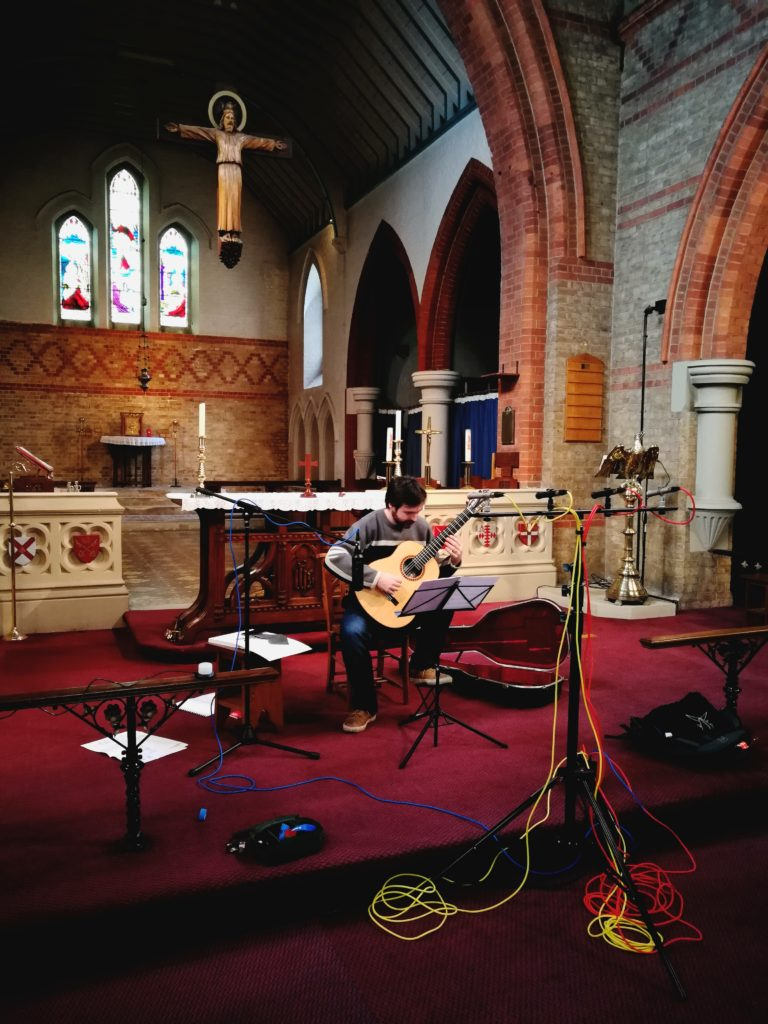 Recording session with Sam Cave: Guitar Sonata