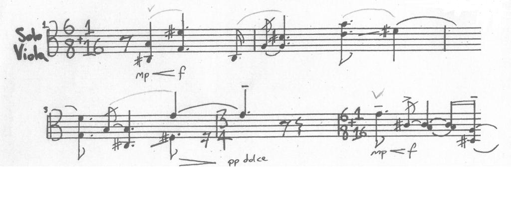 Hua Yang Nian Hua for solo viola《花样年华》中提琴独奏 (2007-9)