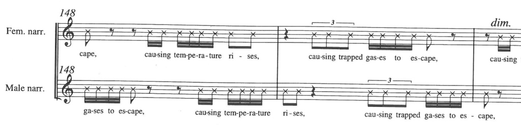 Meltwater (2009-2011) for choir and orchestra