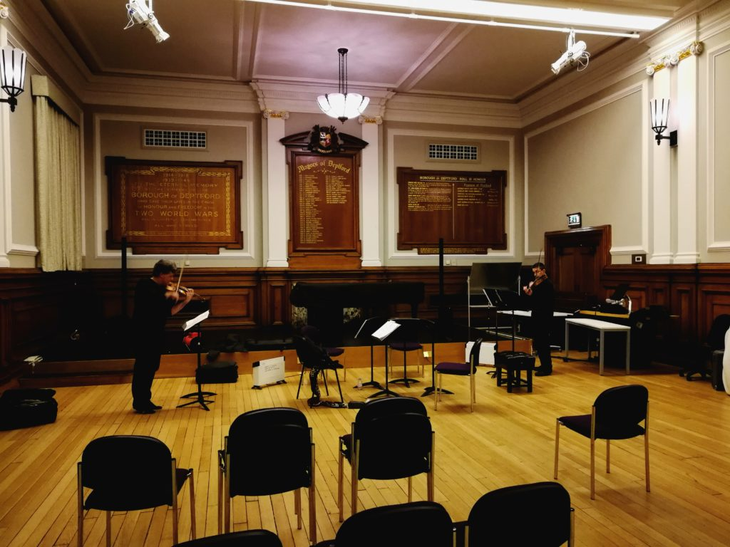 Birds in Flight (2012) for two violins (Kreutzer quartet at Goldsmith's, 1st Feb '18)