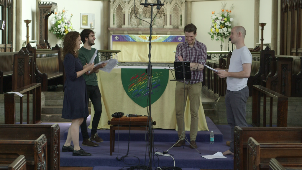 "Highfield Ensemble recording of ""I believe in you, my soul"" (SATB setting of Walt Whitman)"