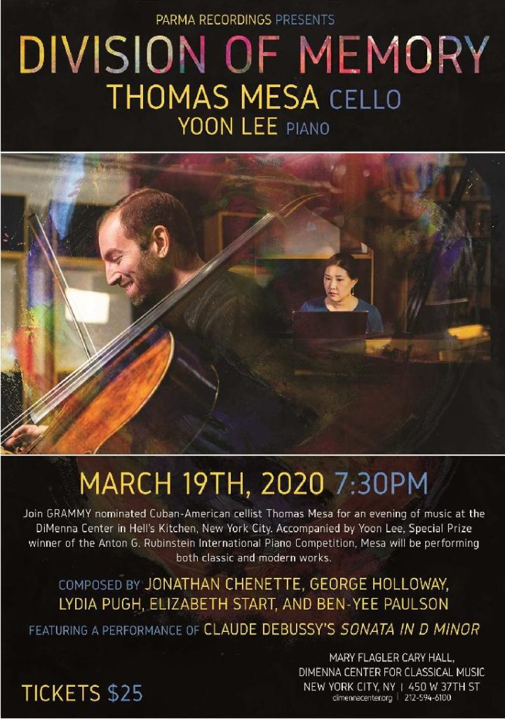 Forthcoming: Parma Records recording and CD launch concert (March 2020)